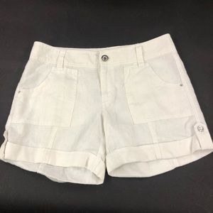 INC Women's White Jewel Shorts 4